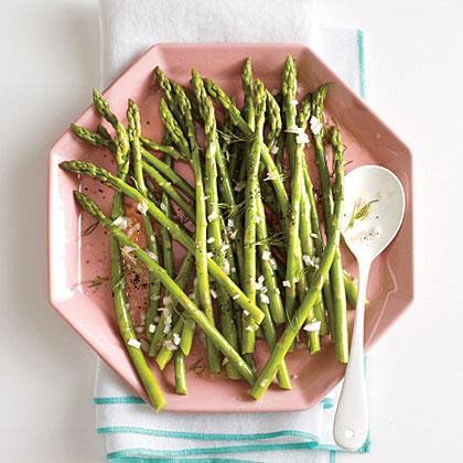 Asparagus with Dill Vinaigrette Recipe