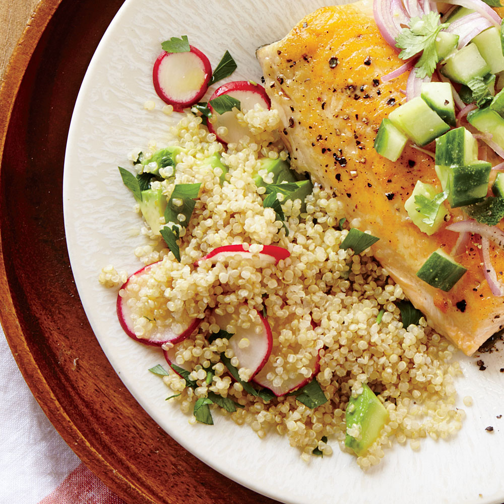 Radish and Avocado Quinoa Salad