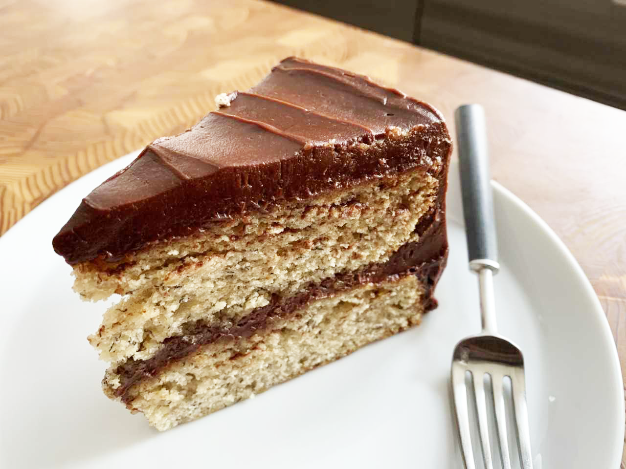 mr-banana-cake-with=chocolate-frosting