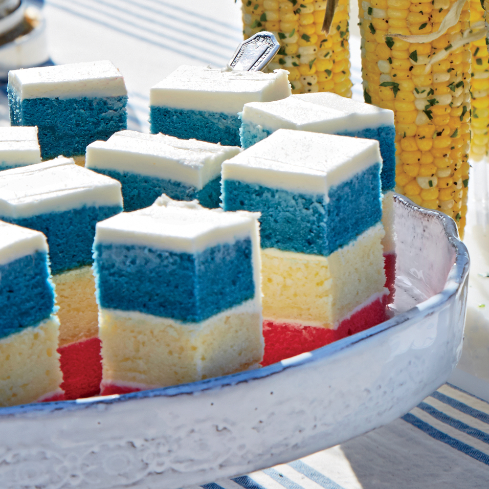 Red, White, and Blue Layer Cake Recipe | MyRecipes