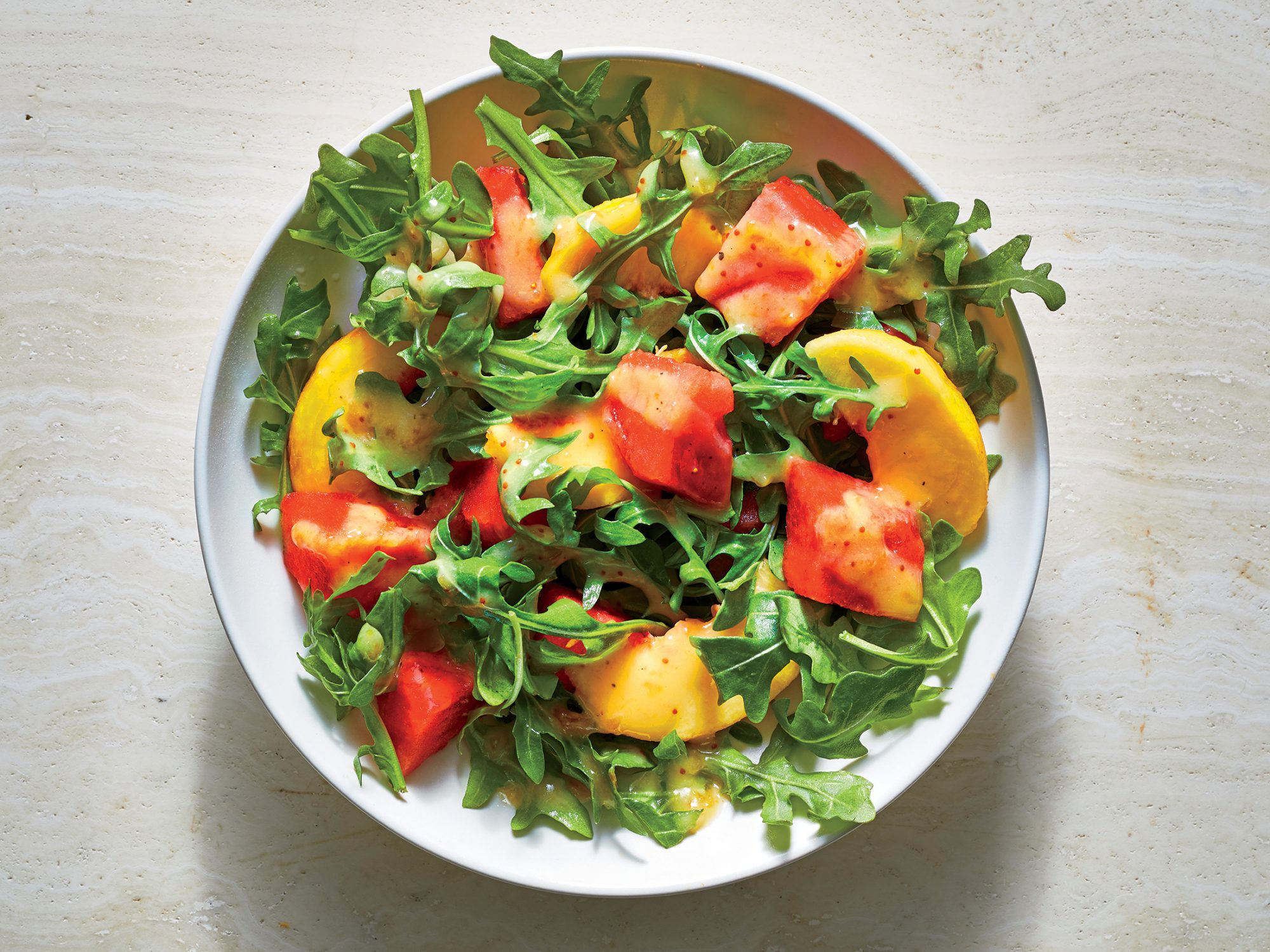 ck-Fruit and Arugula Salad with Fig Vinaigrette