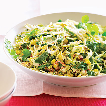 "Santa Fe Slaw Recipe""This recipe came together when I found a half bag of spinach in the refrigerator alongside a small jicama and an open can of chipotle peppers,"" says Roxanne Chan."