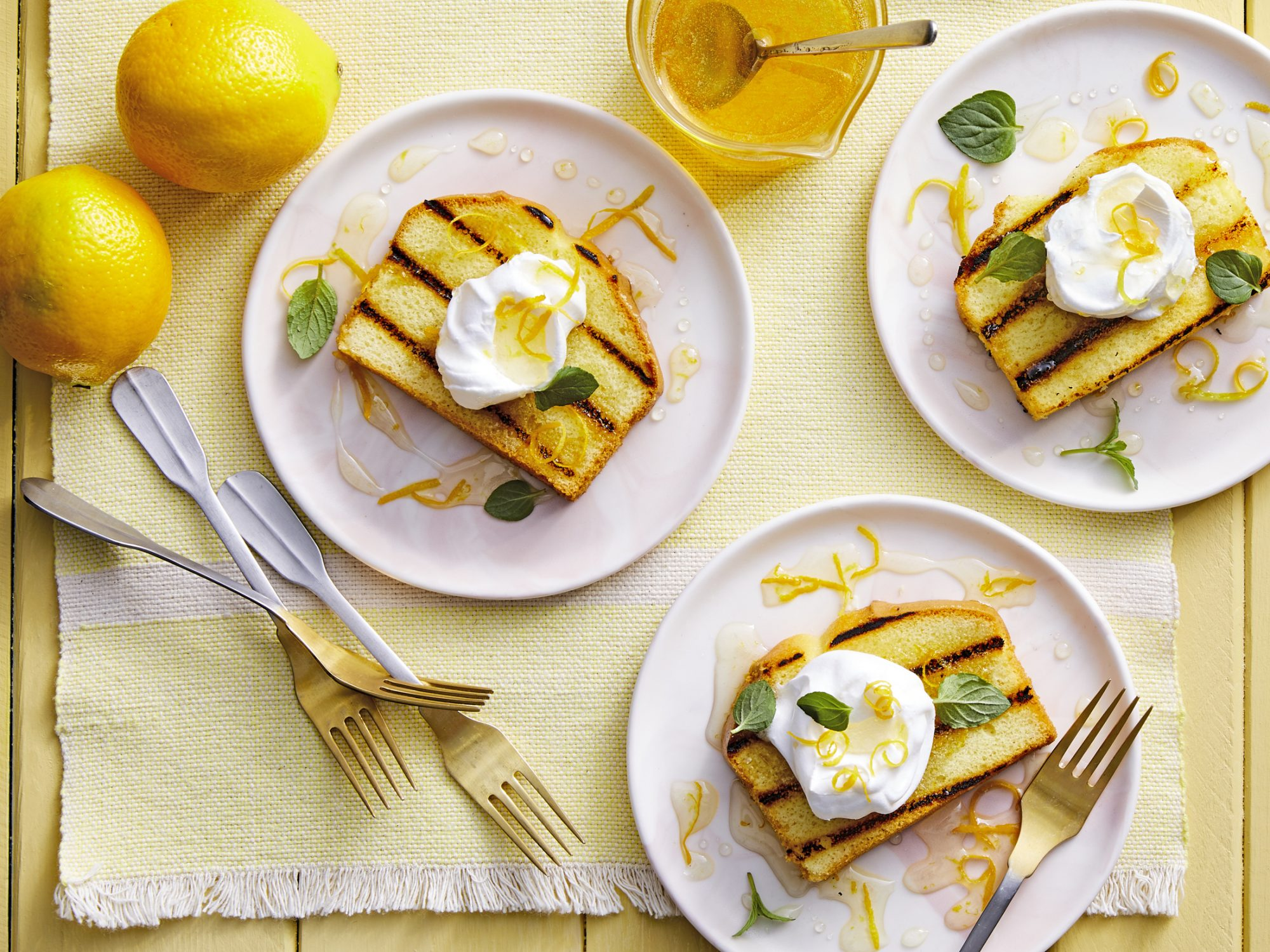 Grilled Pound Cake with Meyer Lemon Simple Syrup