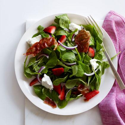 Strawberry-and-Arugula Salad with Crispy Prosciutto Recipe ...