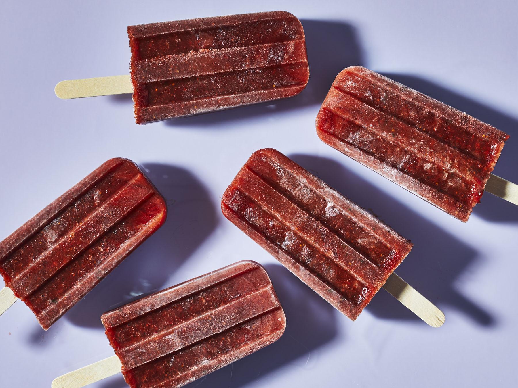 mr-Tamarind Strawberry Popsicles