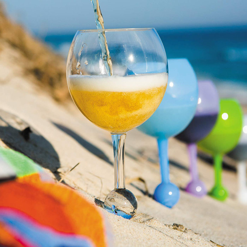 Cheers! These Floating, Spill-Proof Glasses Make It So Easy to Drink Wine at the Beach and Pool f3c7856411f8694ea880f9ffbac7da50