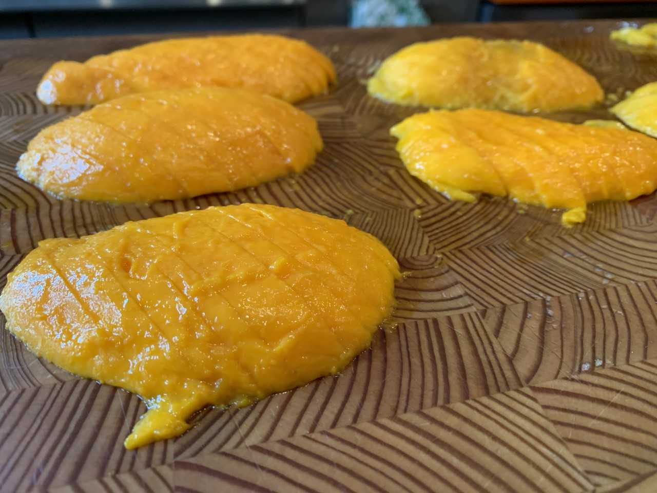 mango slippers sliced