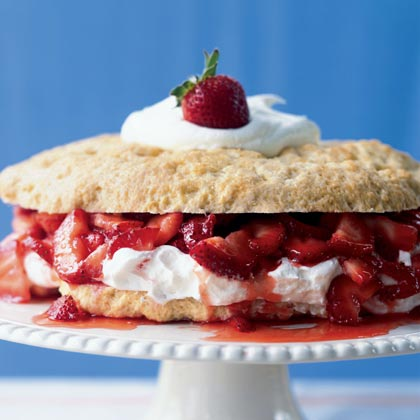 Strawberry Shortcake RecipeRound out a Southern-style supper with these individual confections. Sweetened biscuits, juicy berries, and whipped topping combine for an out-of-this world presentation.