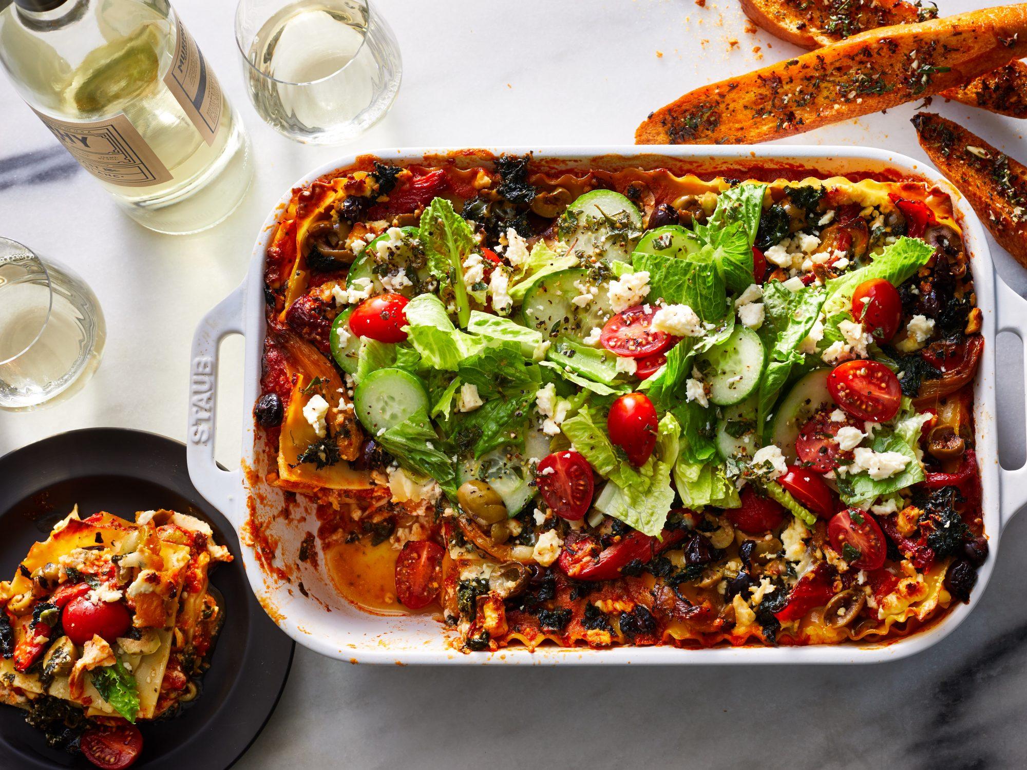 Greek Salad Lasagna