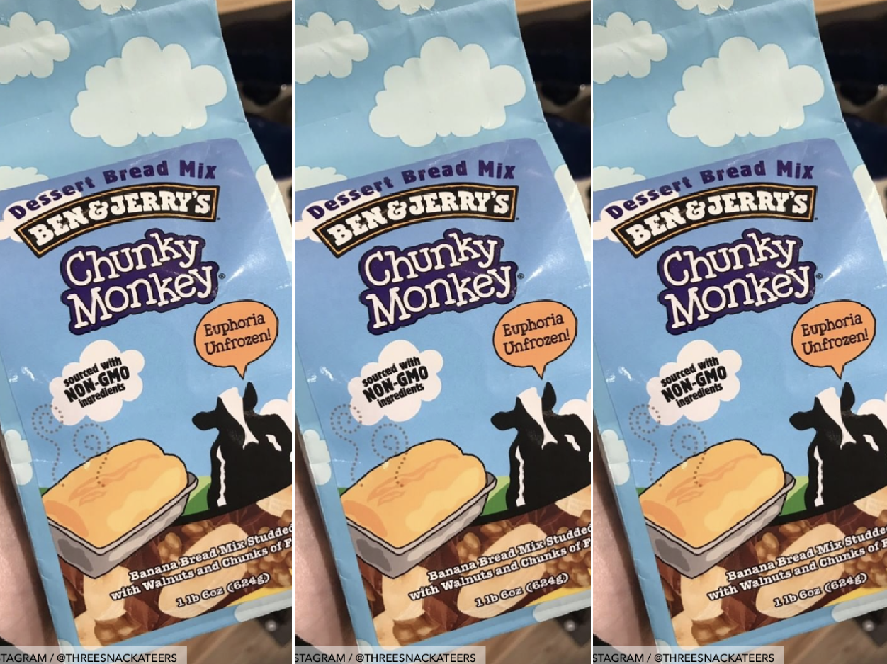 PSA: Ben & Jerry's Sells Chunky Monkey Dessert Bread Mix