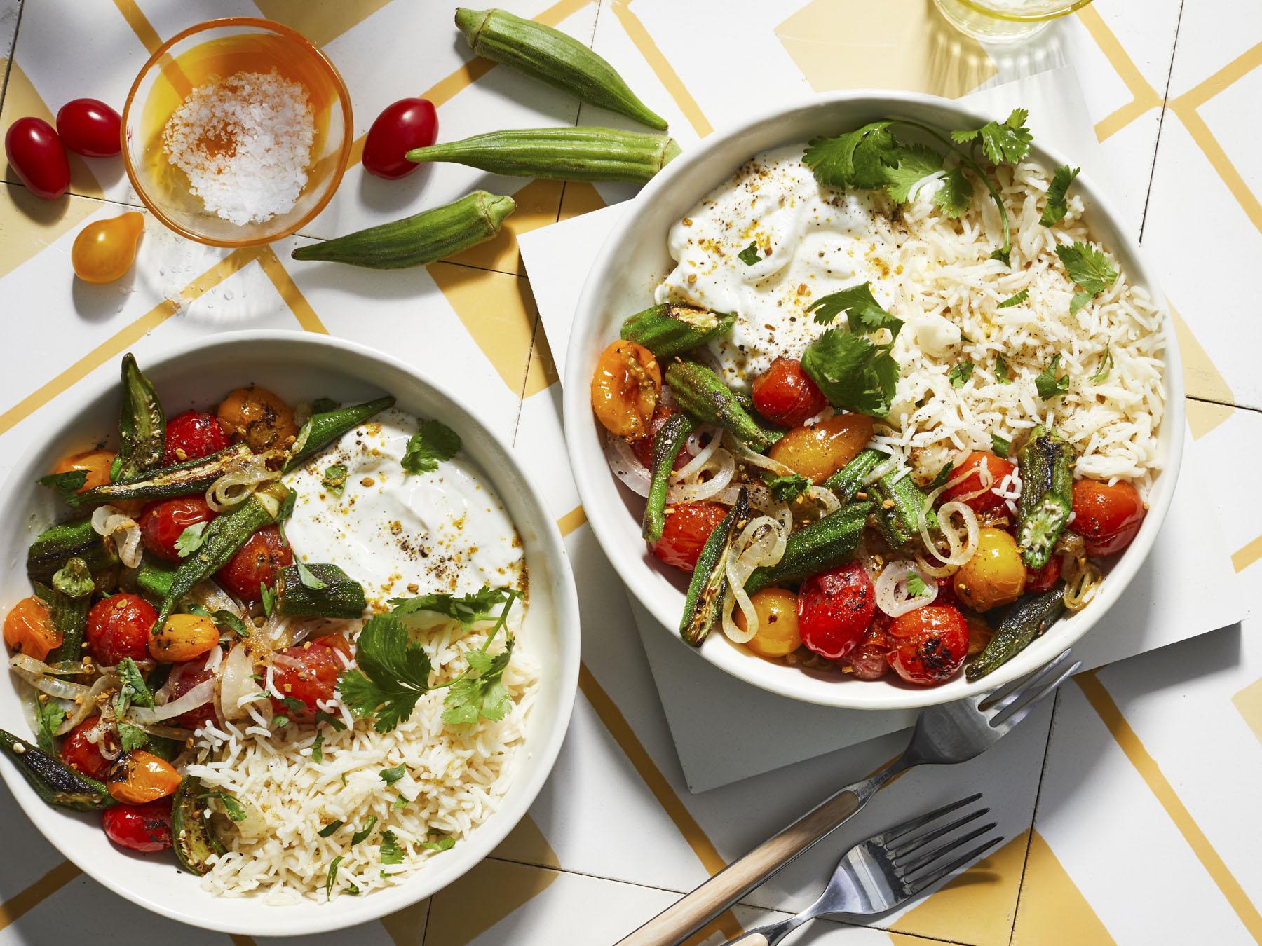 mr-Charred Okra and Tomato Masala Image