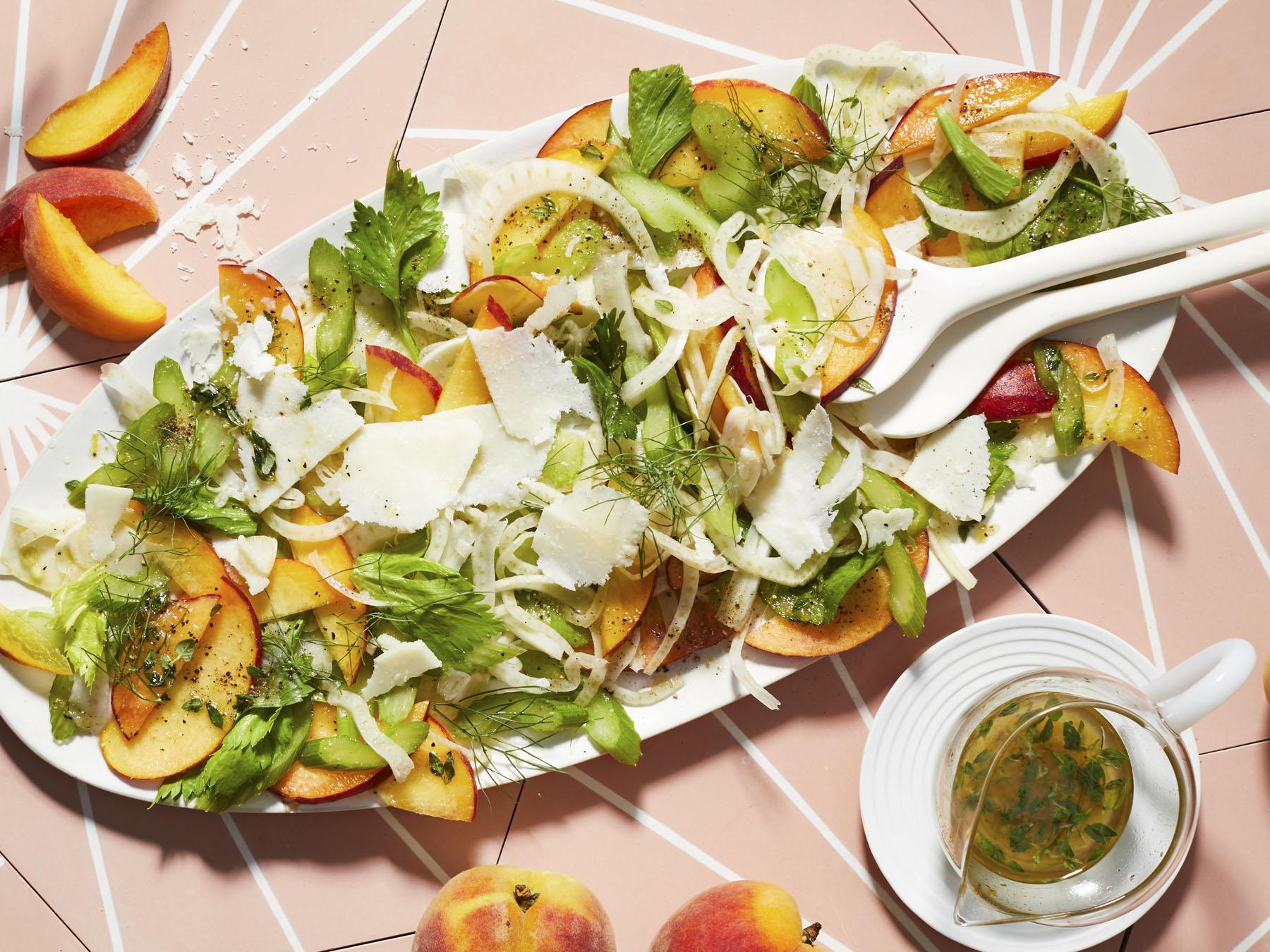 Peach-Fennel Salad with Pecorino