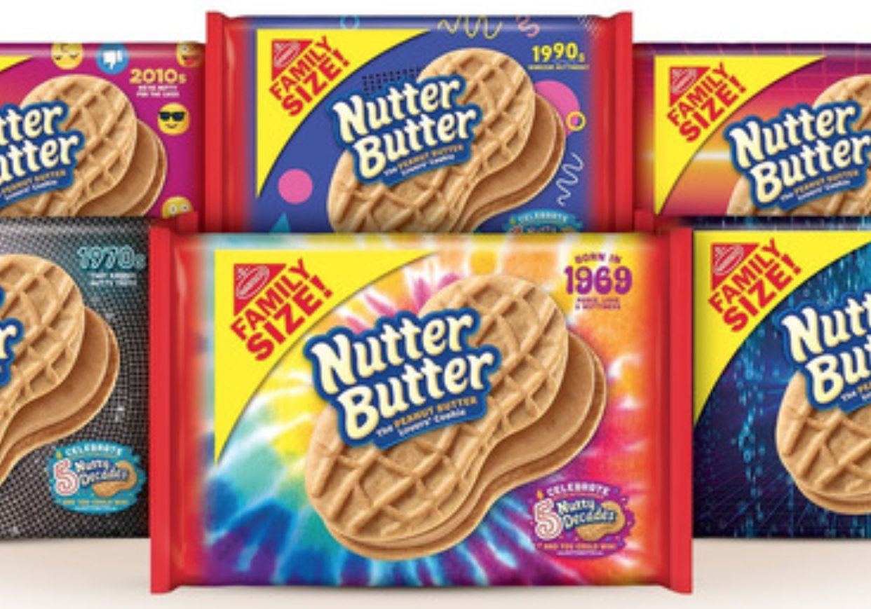 Nutter Butter Is Celebrating 50 Years With Six Retro Package Designs