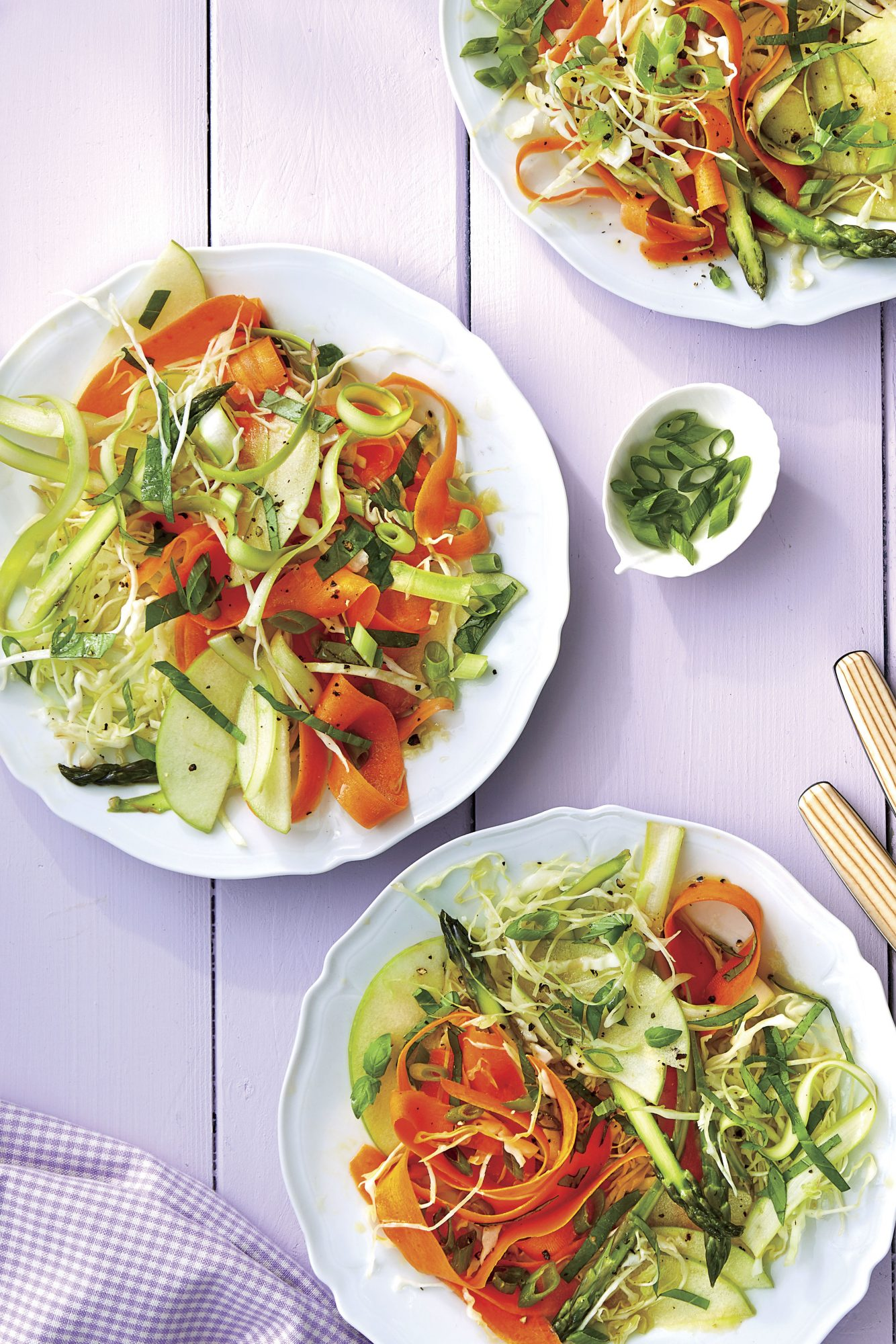 Shaved Carrot, Asparagus, and Apple Salad