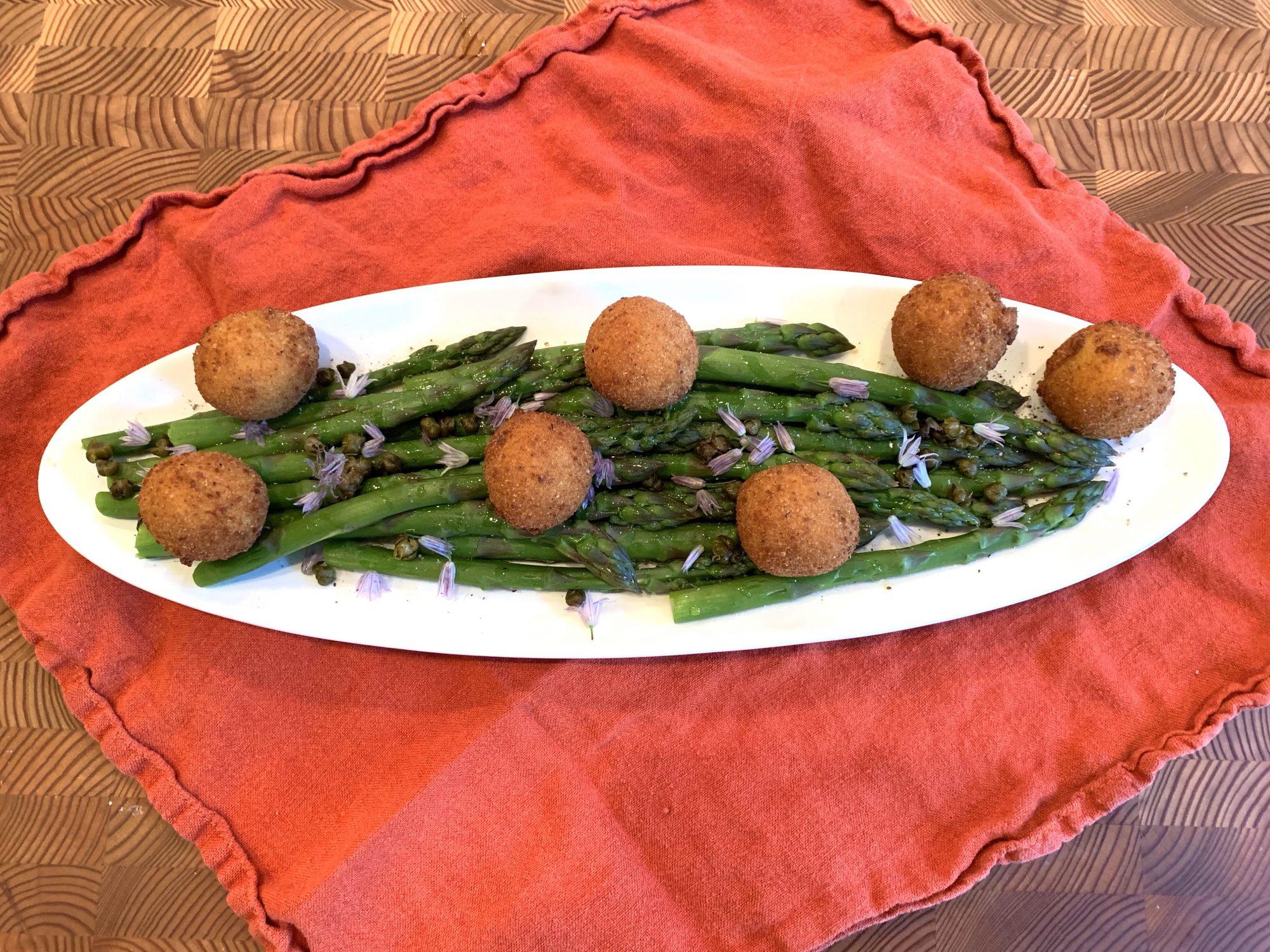 Asparagus and Fried Goat Cheese Balls: A Love Affair
