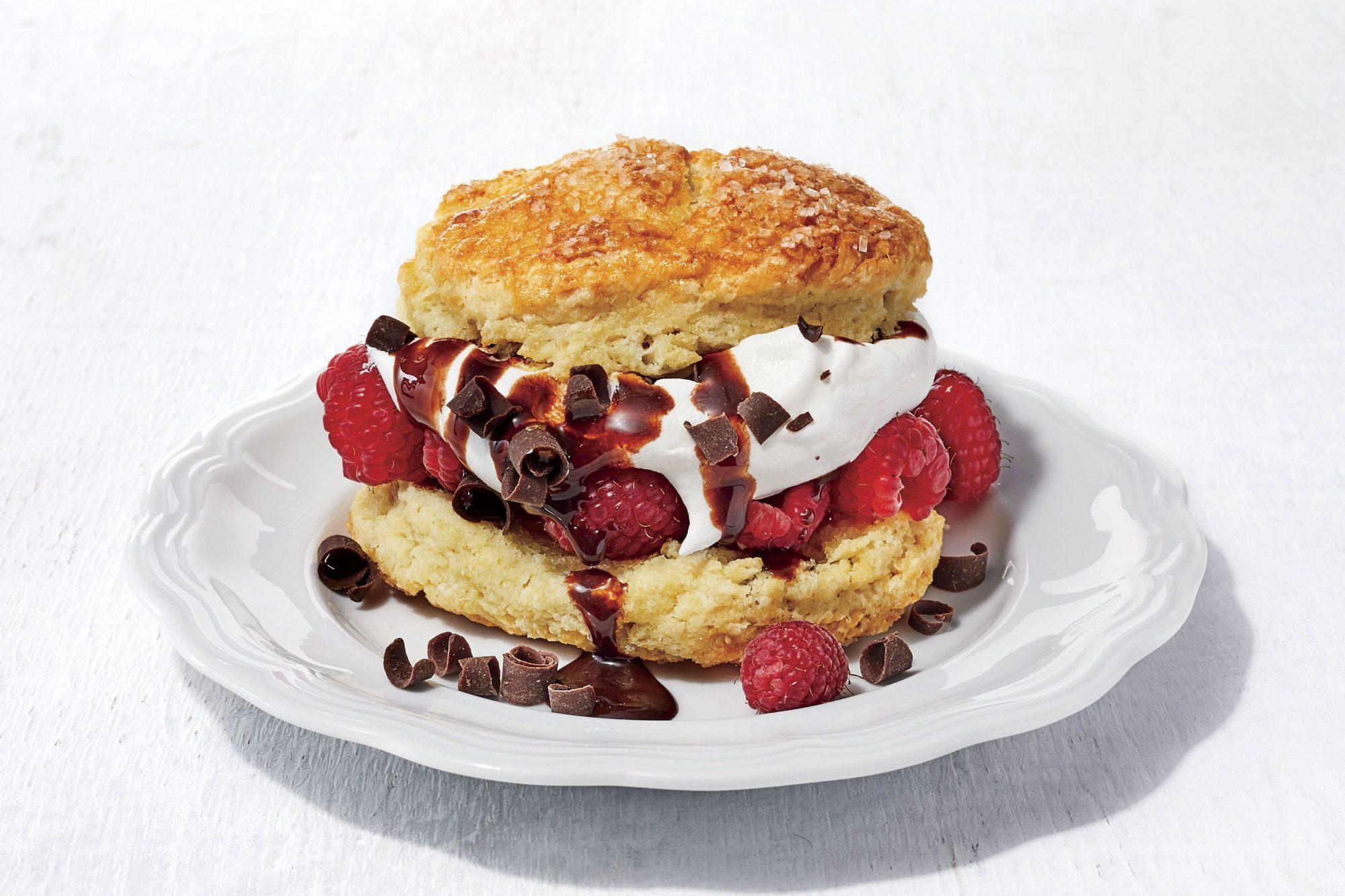 Raspberry Truffle Shortcake