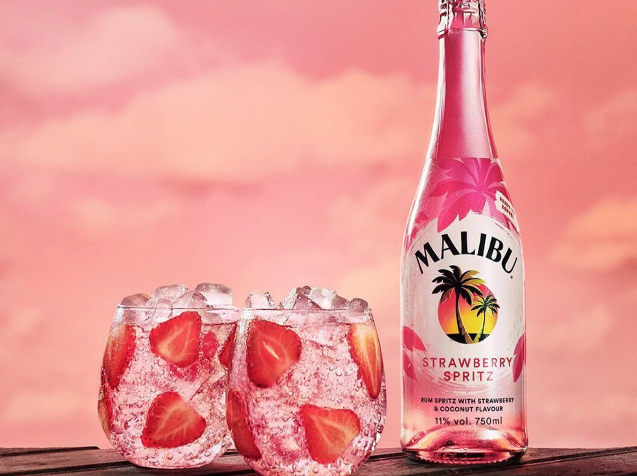 Malibu's Strawberry Spritz Is a Fizzy, Millennial Pink Daydream