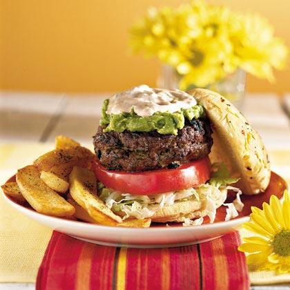 Stuffed Border BurgersRecipe