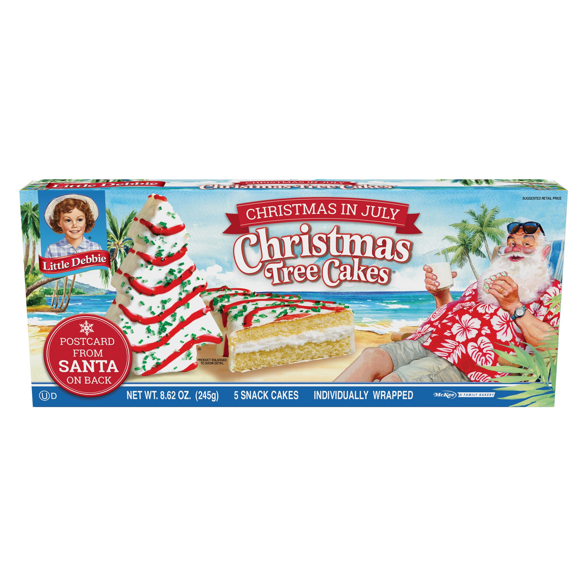 Santa Came Early! Little Debbie's Christmas Tree Snack Cakes Are Now at Walmart for the Summer