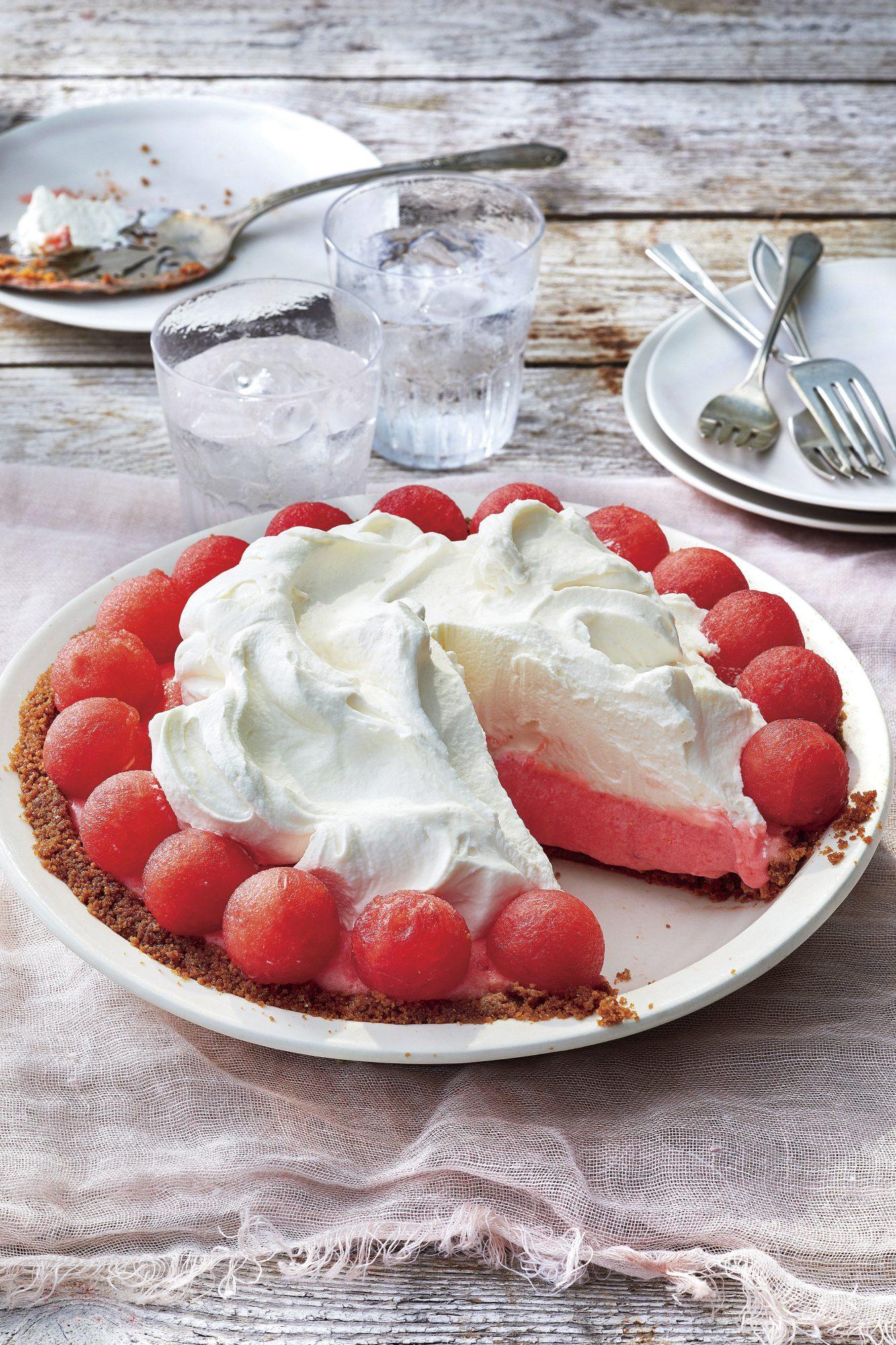 Watermelon Chiffon Pie