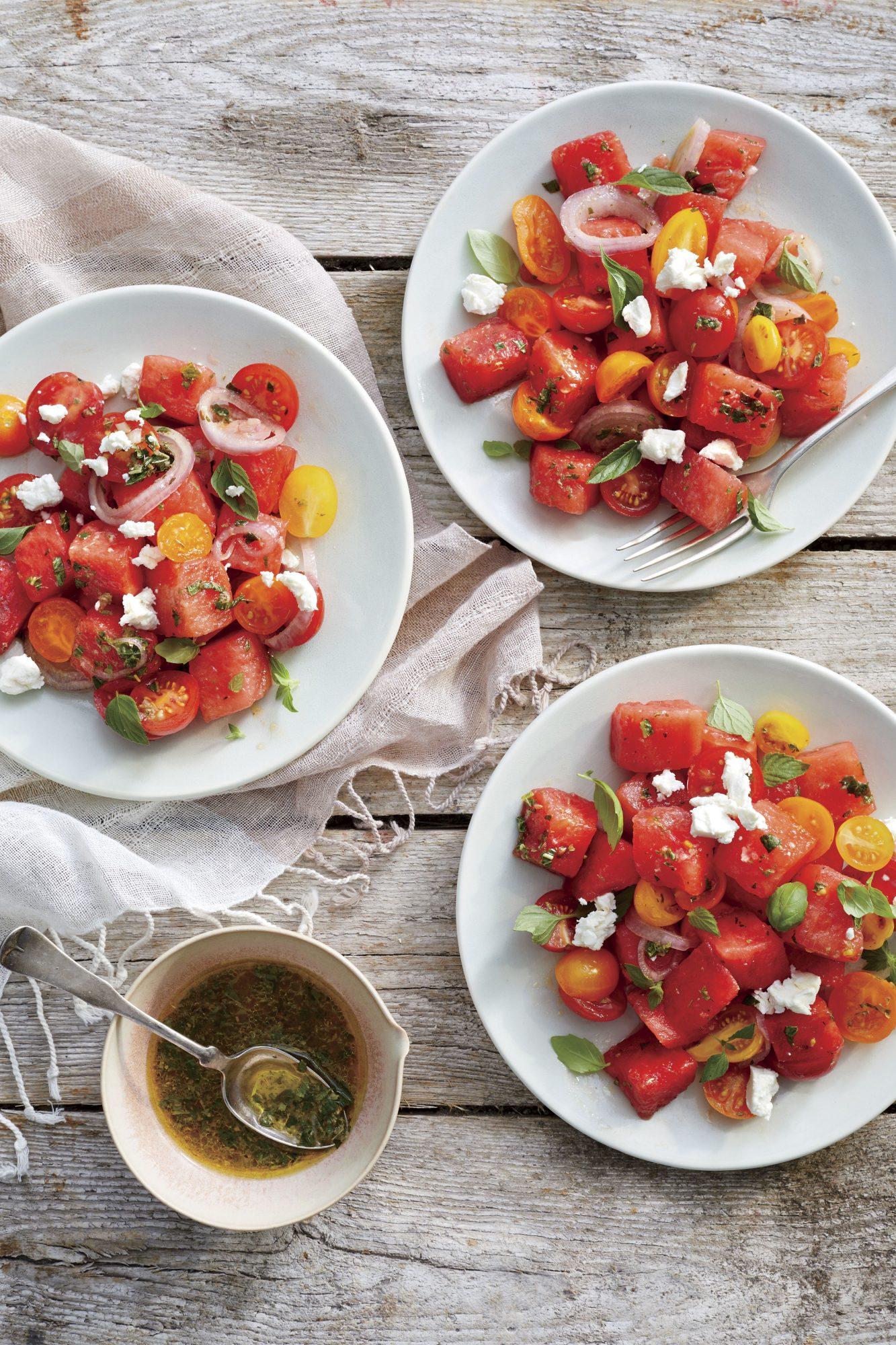 Marinated Watermelon Tomato Salad