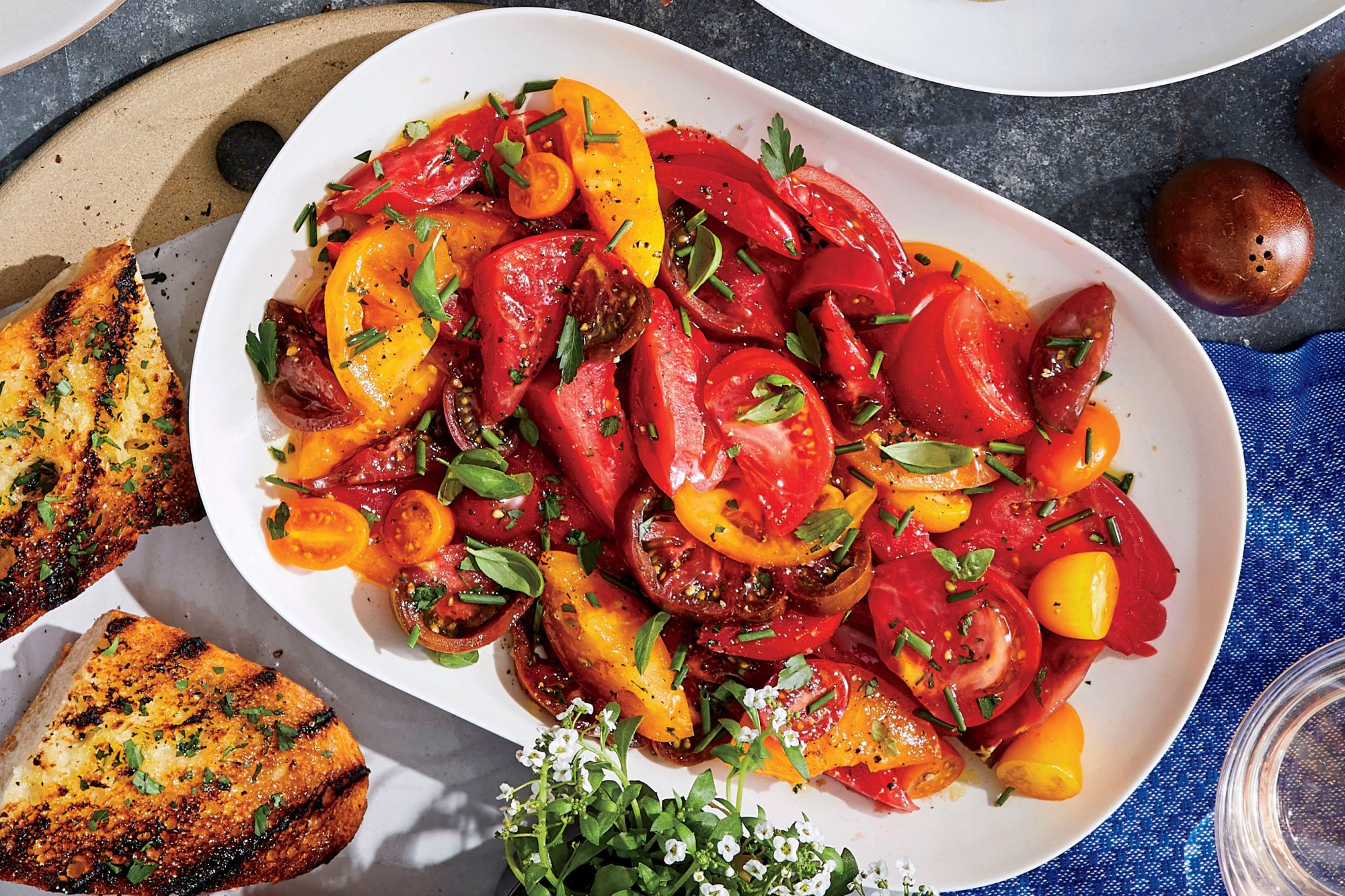 Mixed Herb-and-Tomato Salad