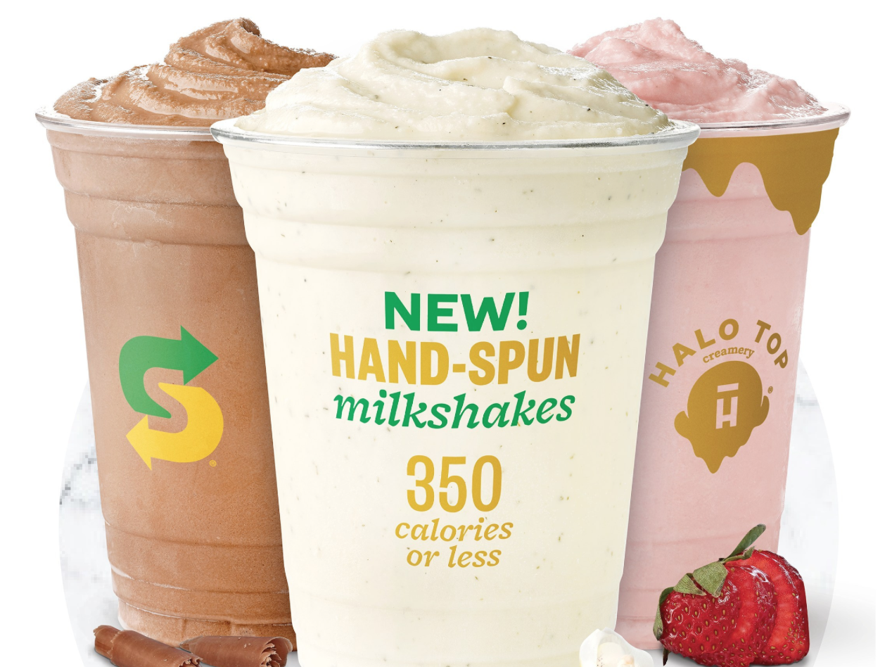 Subway Is Testing Halo Top Milkshakes in Three Flavors