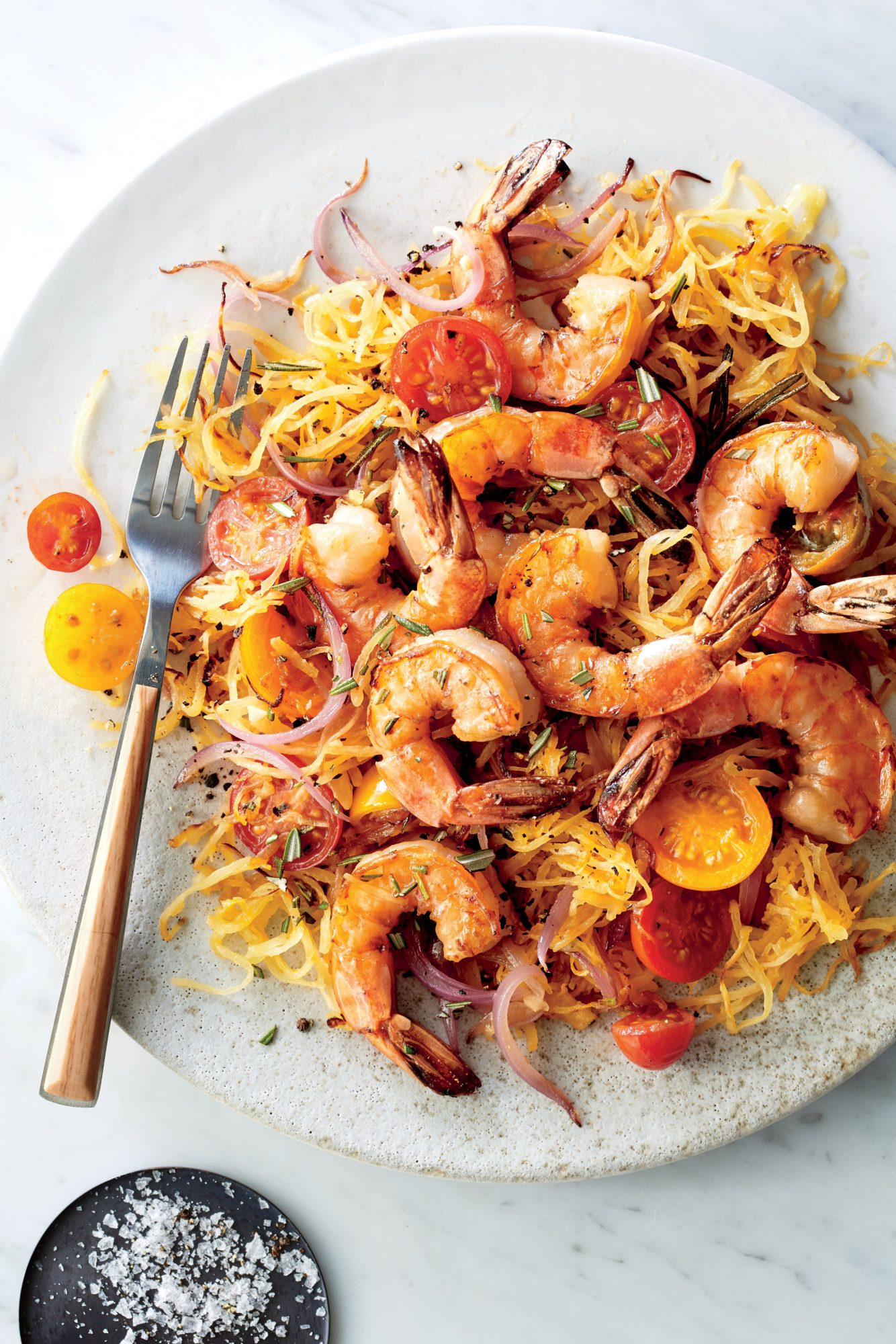 Pan Seared Shrimp with Rosemary Spaghetti Squash image