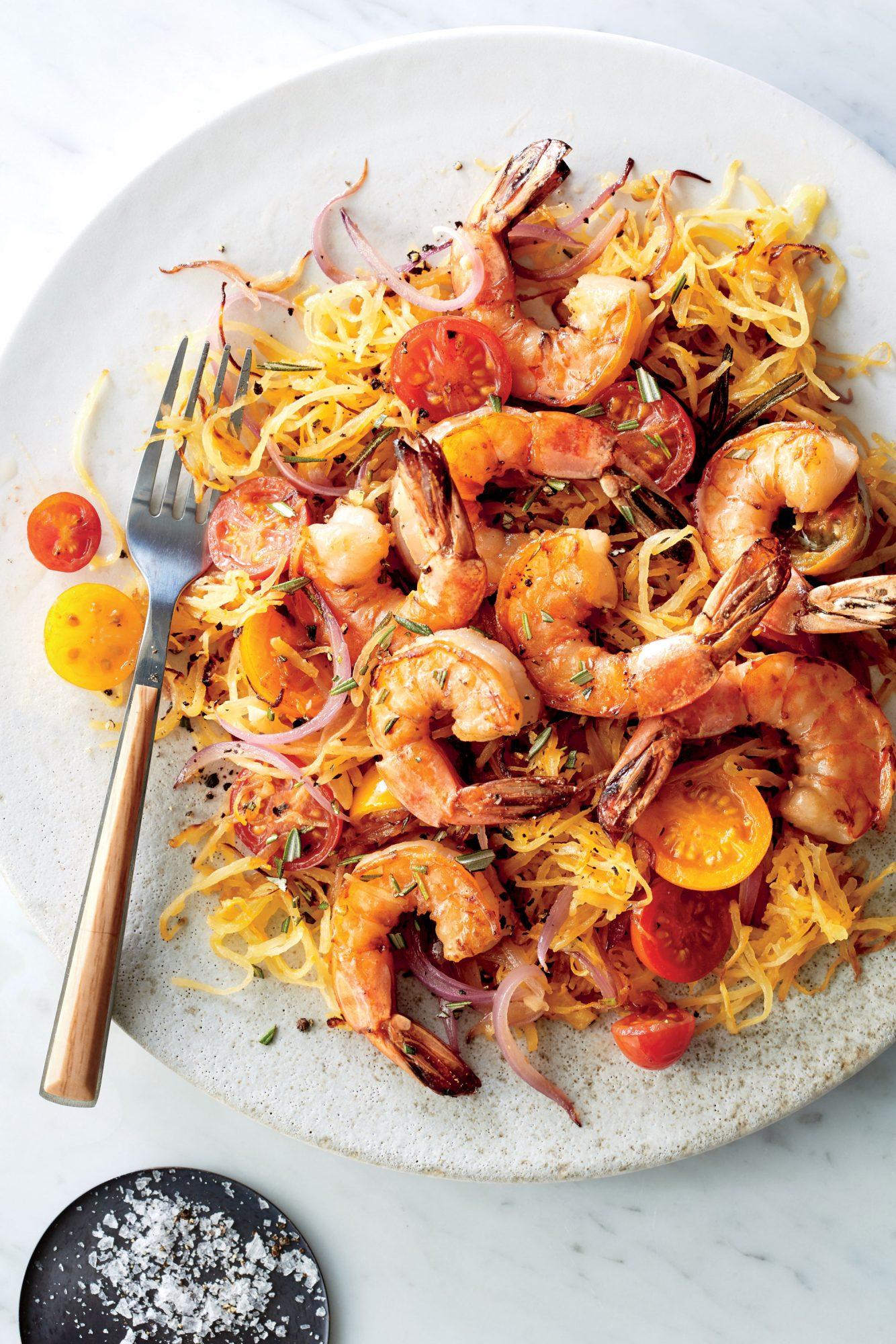 Pan Seared Shrimp with Rosemary Spaghetti Squash image