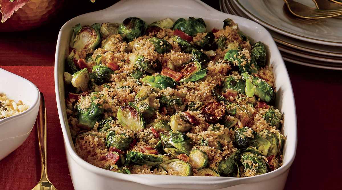 Brussels Sprouts with Bacon and Shallots