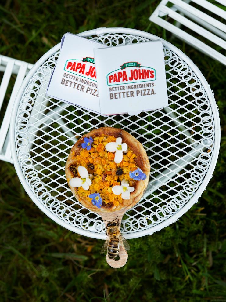 Papa John's Created a Tiny Pizza for Bees papa-johns-beezza-VT-BLOG0719