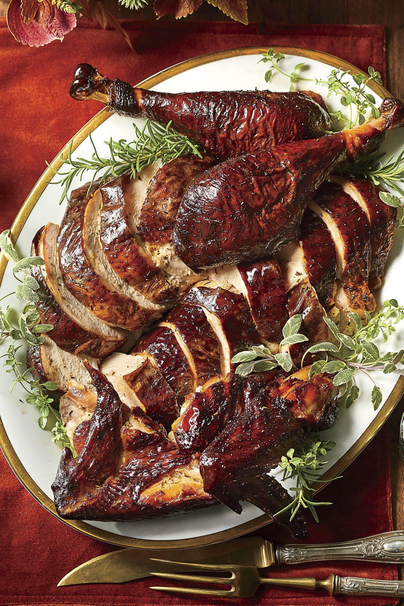 Smoked Turkey with Herb Rub
