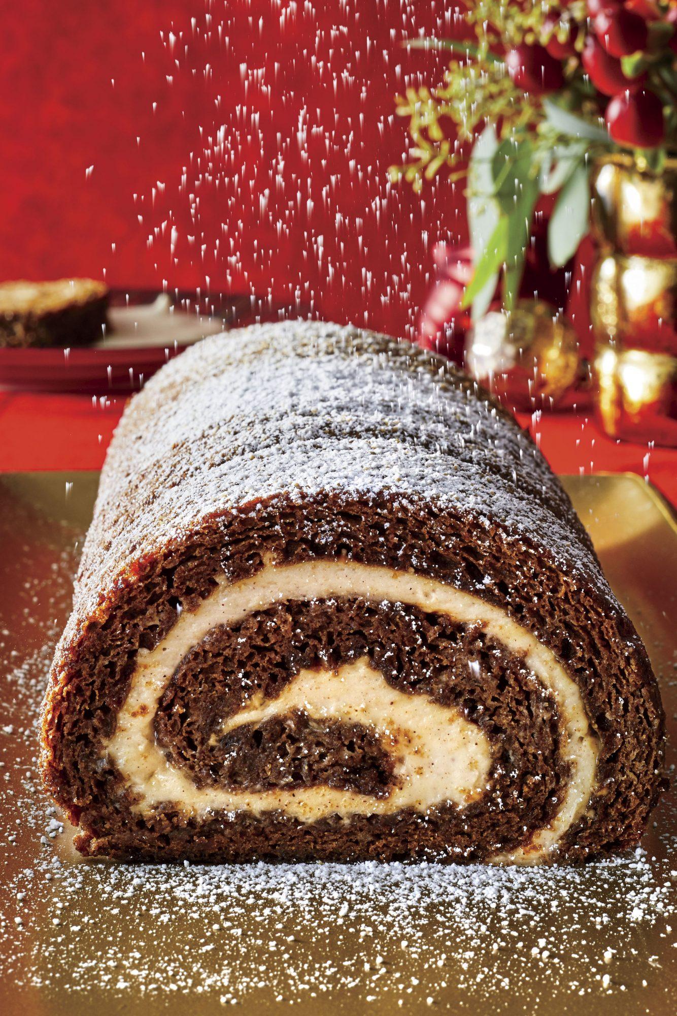 Gingerbread Roulade and Eggnog Cream