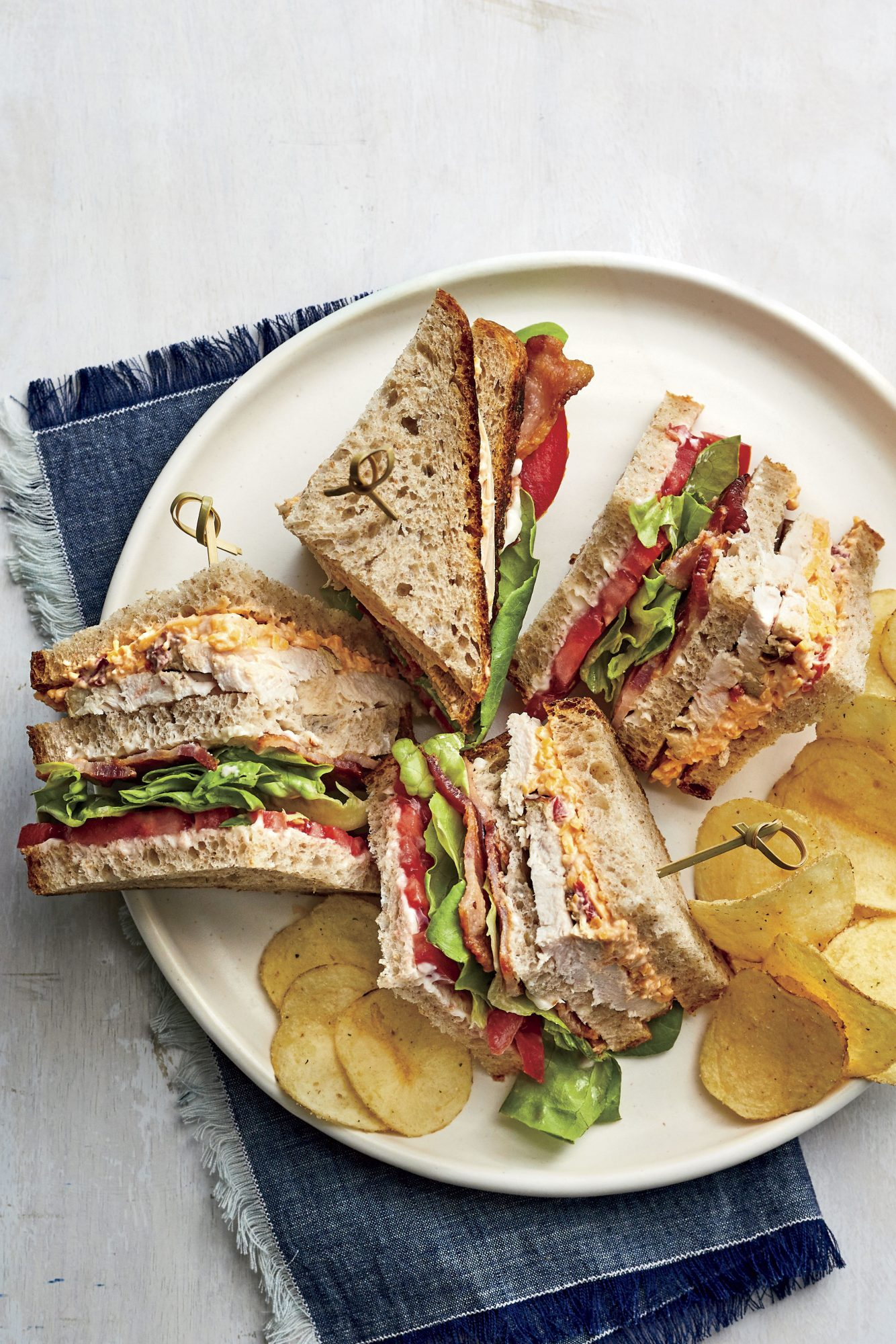 Turkey and Pimiento Cheese Club Sandwich