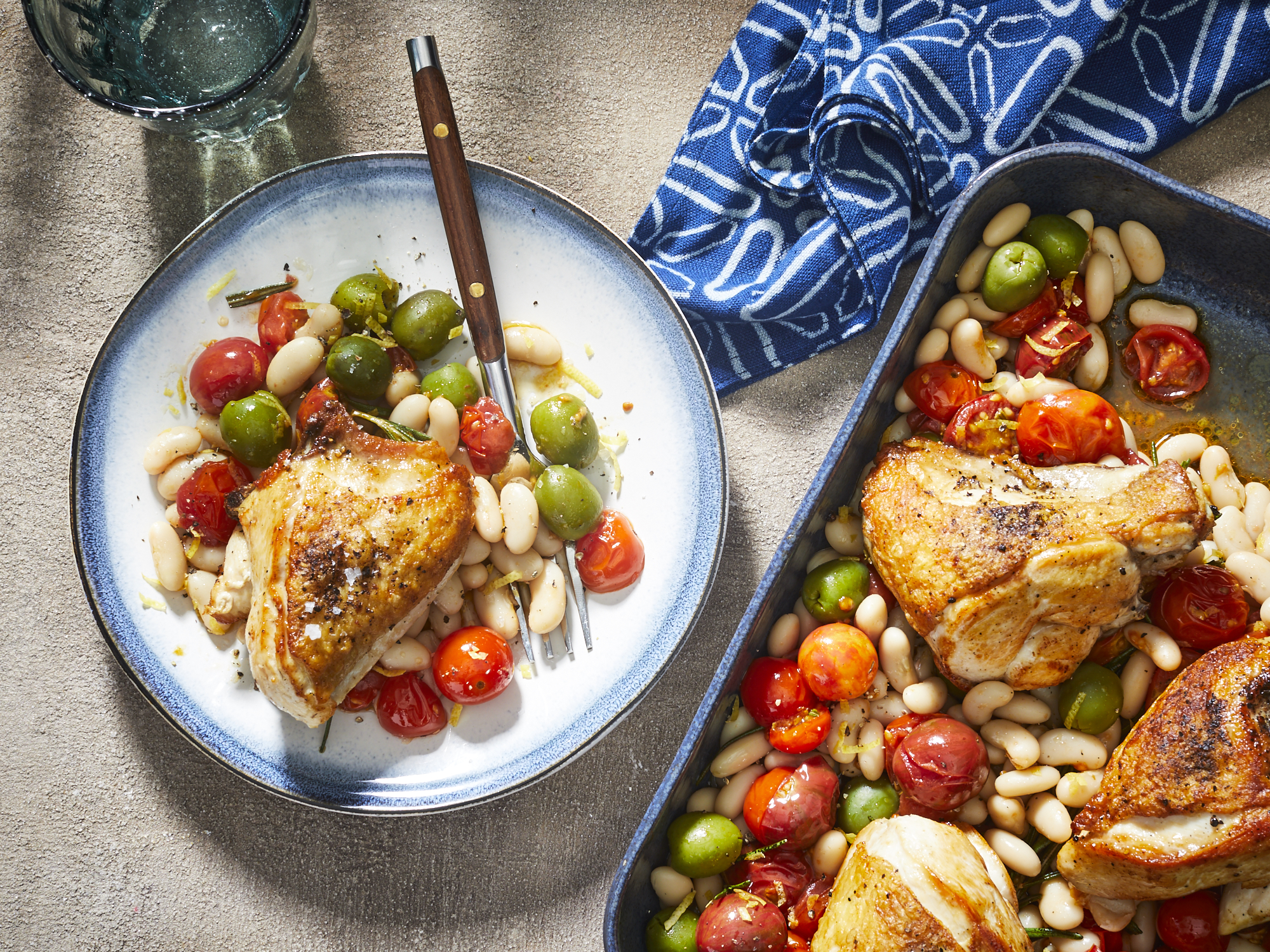 mr-Easy Roasted Chicken Breasts with Tomatoes and White Beans Image