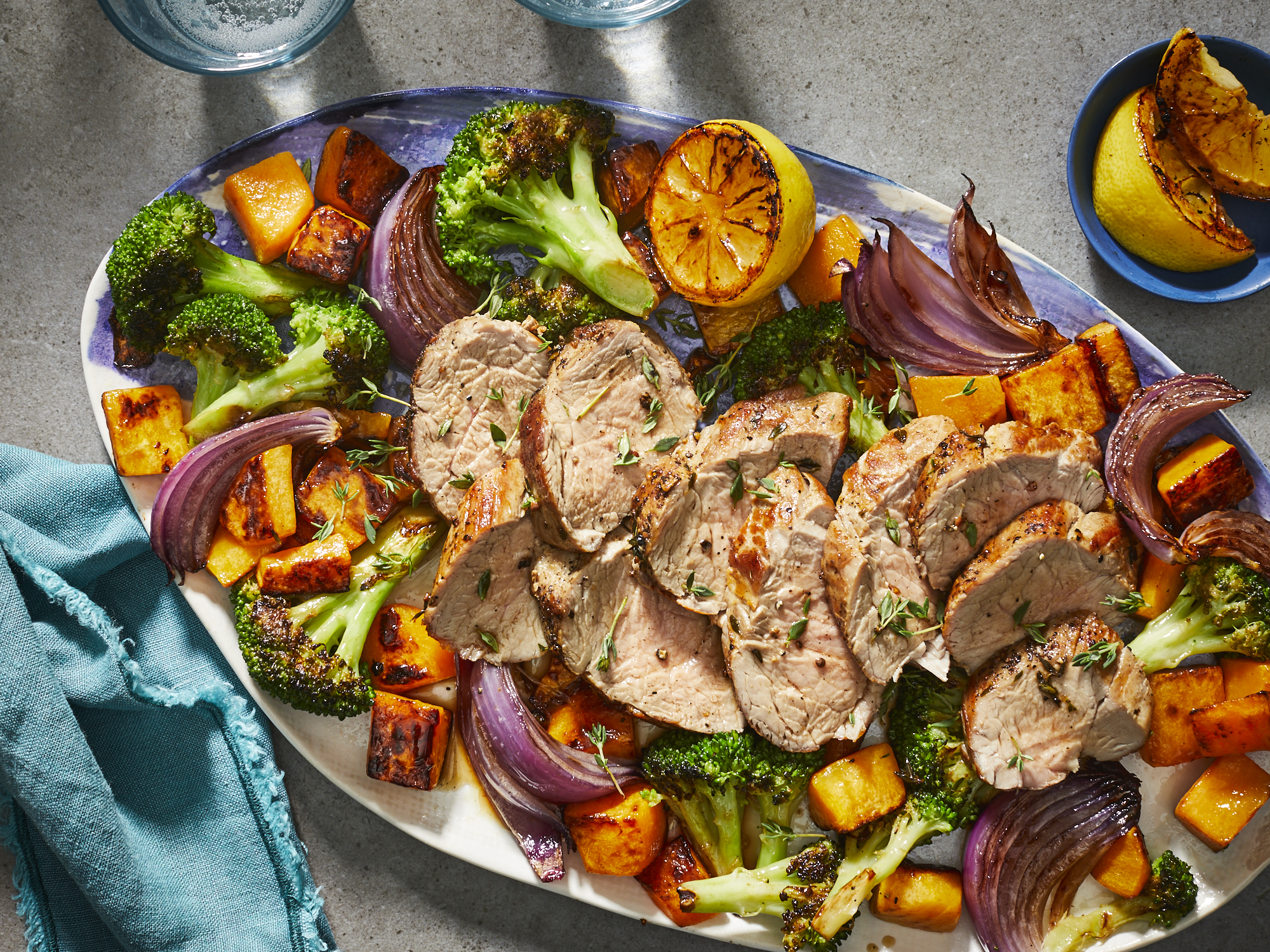 Sheet Pan Pork Tenderloin with Broccoli and Butternut Squash