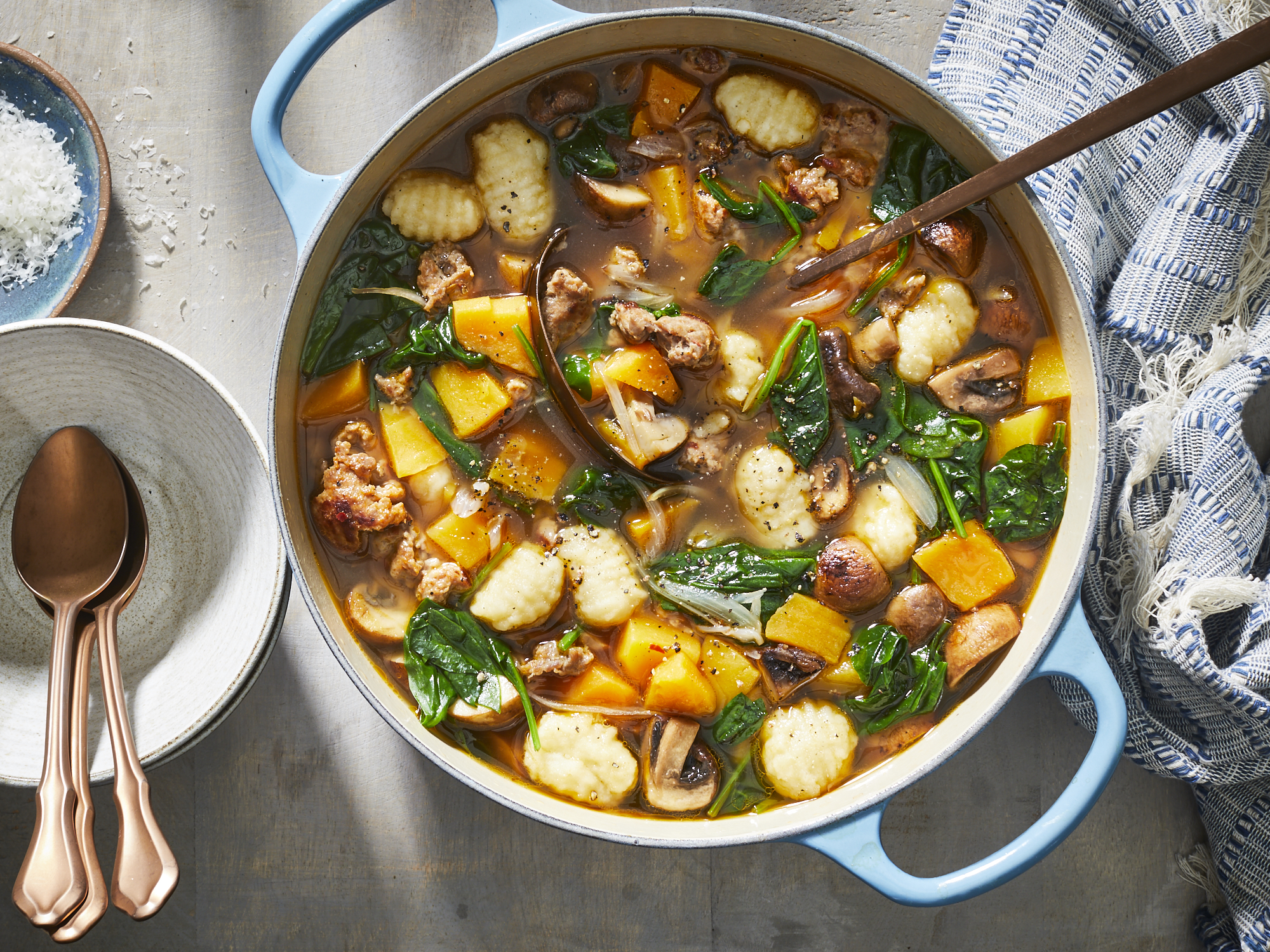 Savory Sausage, Veggie, and Gnocchi Soup