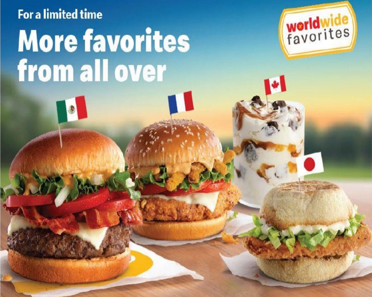 McDonald's Is Testing New Additions to Its Worldwide Favorites Menu