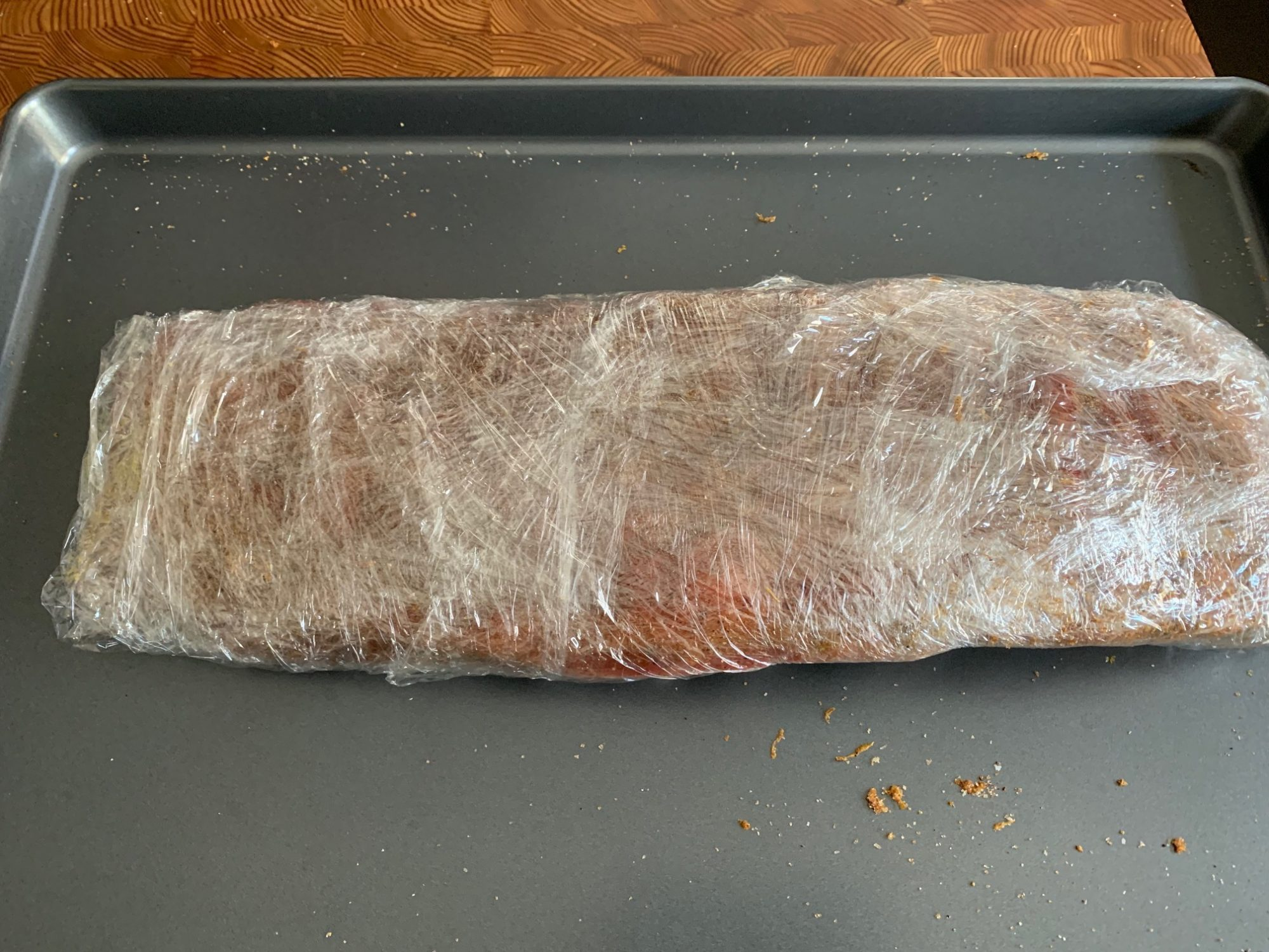 ribs wrapped in plastic 2