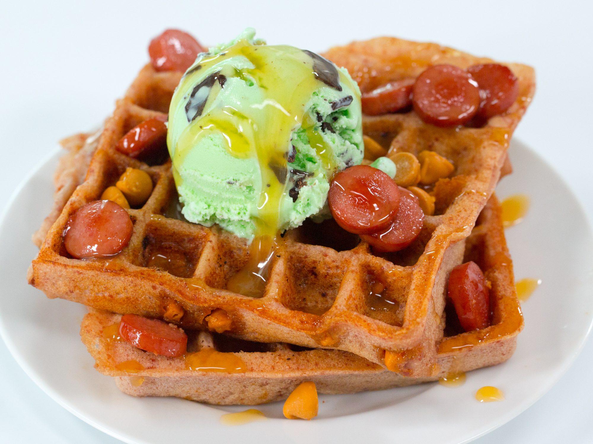 Butterscotch Hot Dog Waffle image