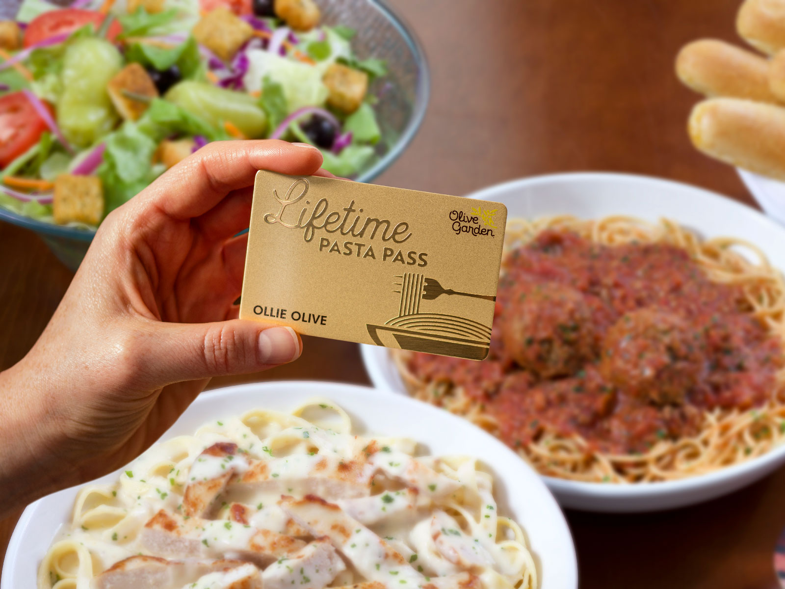 Olive Garden Is Selling Lifetime Pasta Passes—Here's How to Get One