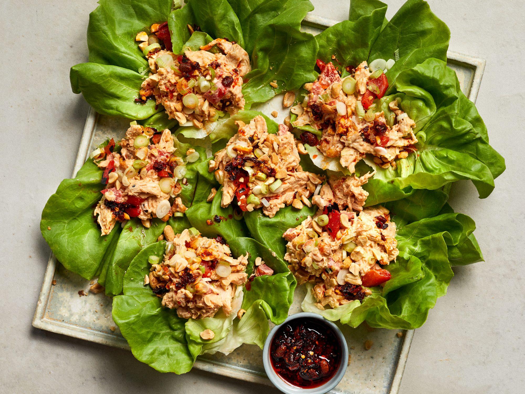 mr-Kung Pao Chicken Salad recipe