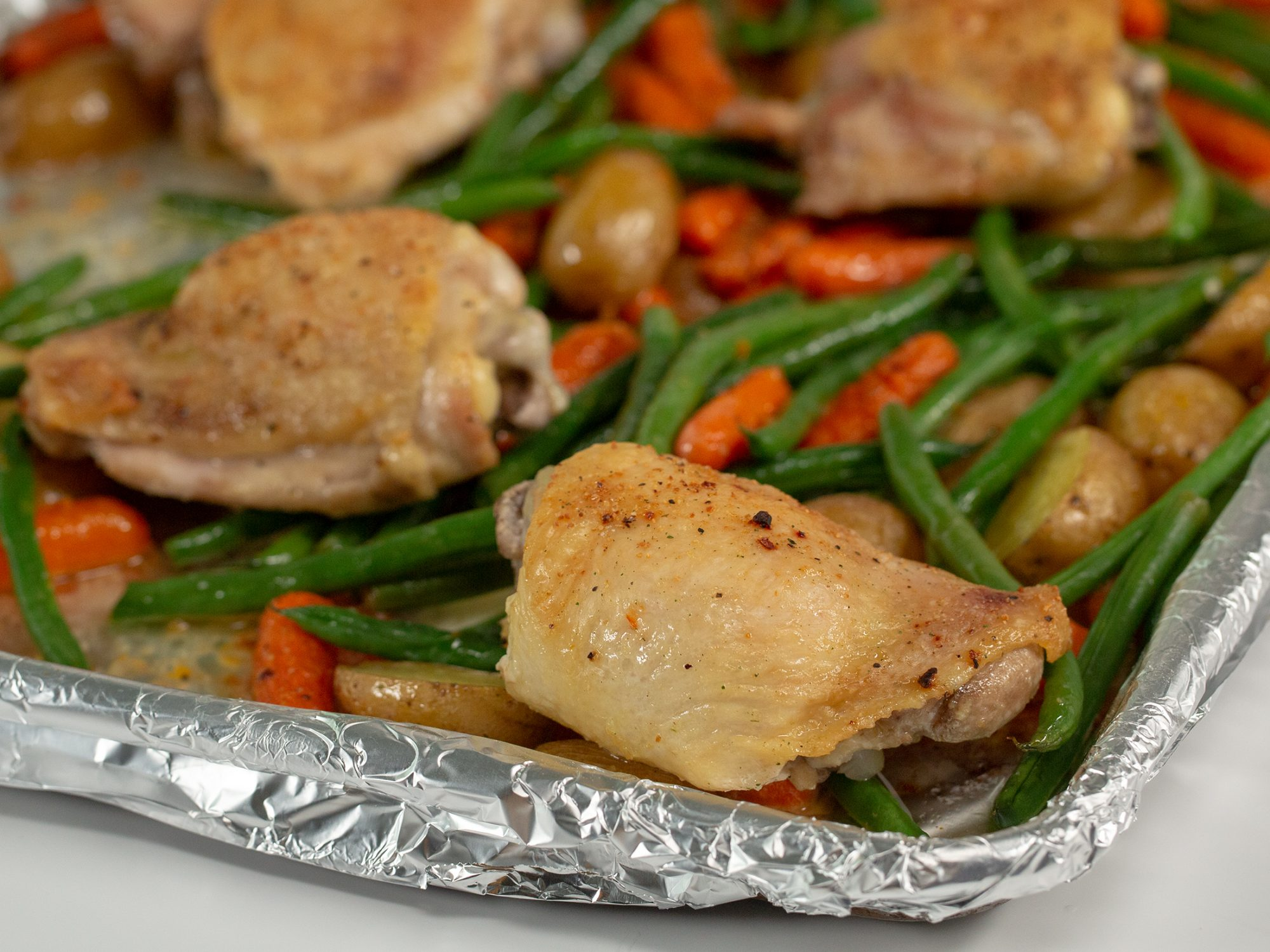 Simple Sheet Pan Chicken And Veggies image