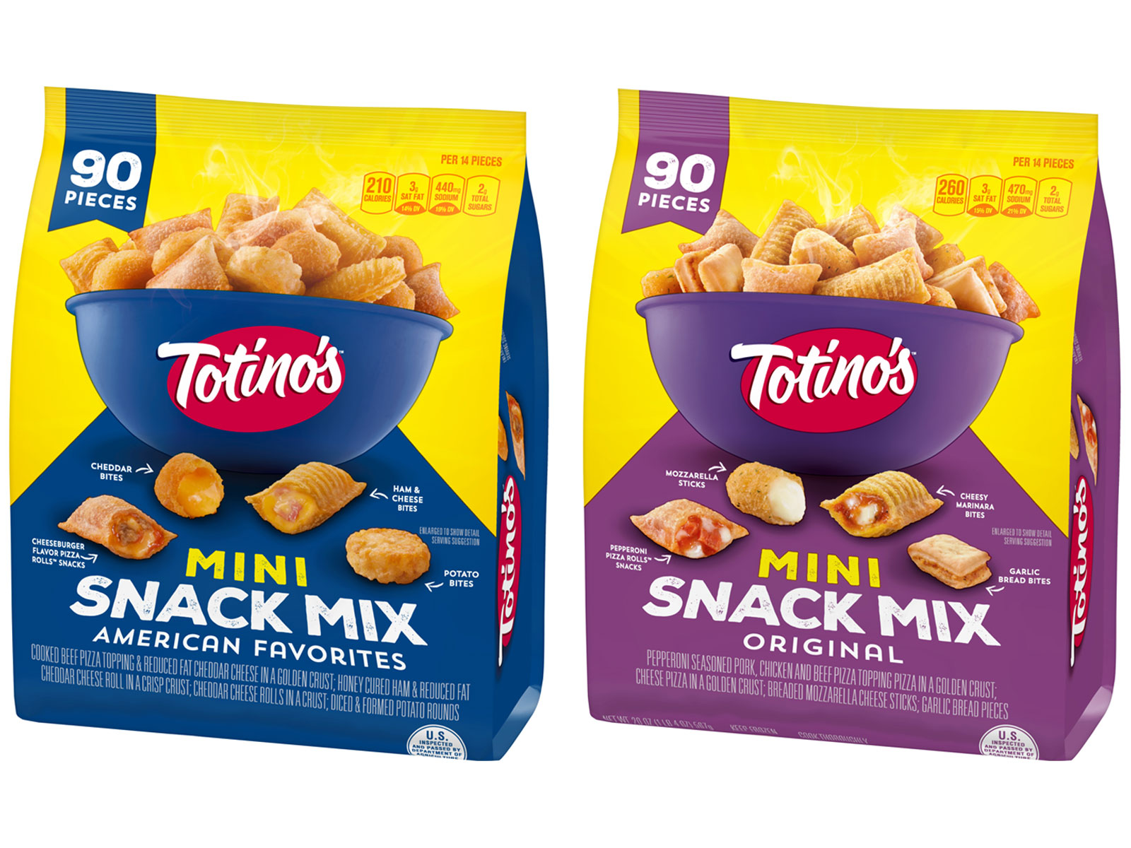 Totino's Created Snack Mixes with Pizza Rolls, Tots, and Garlic Bread Bites