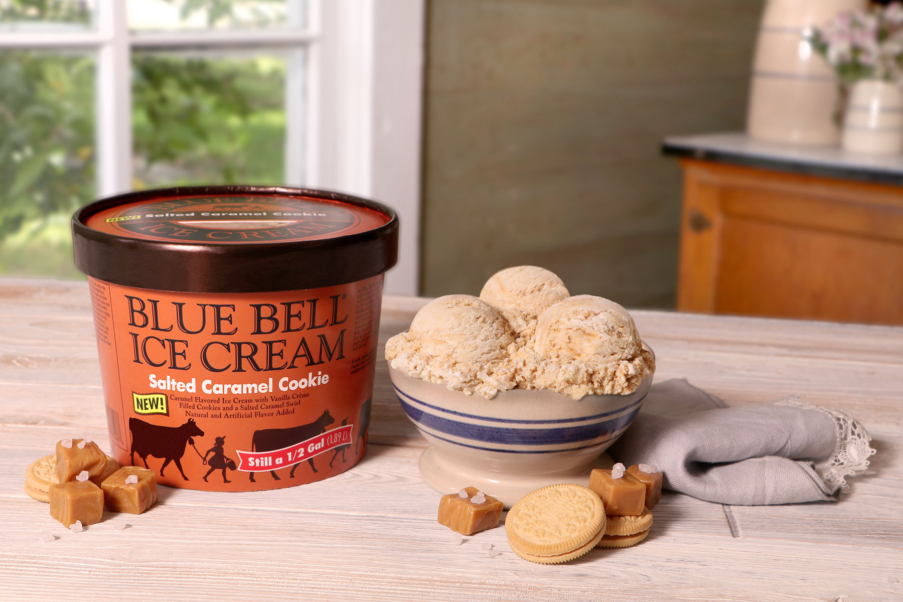 Blue Bell Ice Cream Salted Caramel Cookie
