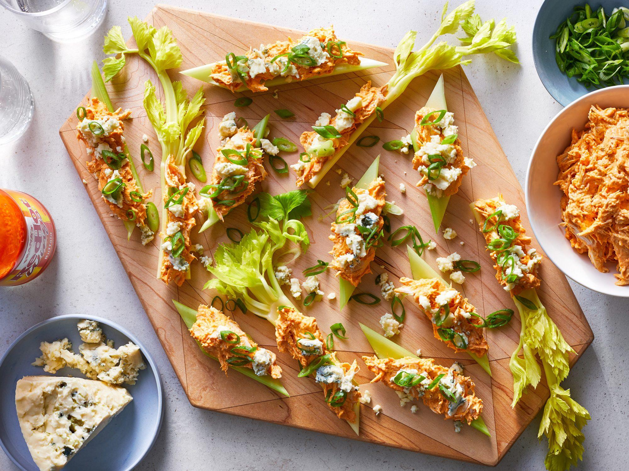 Buffalo Chicken Celery Bites image