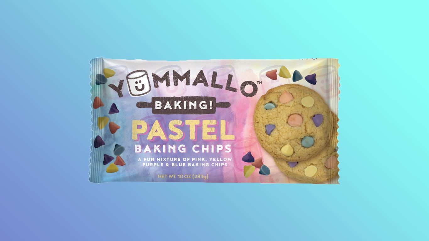 pastel baking chips