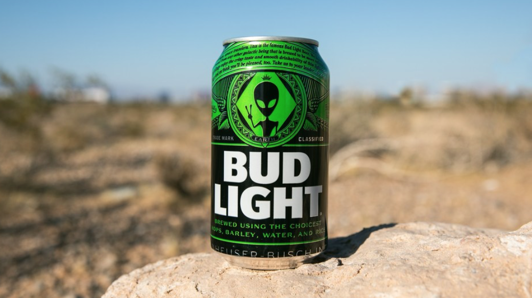 Bud Light Alien Can