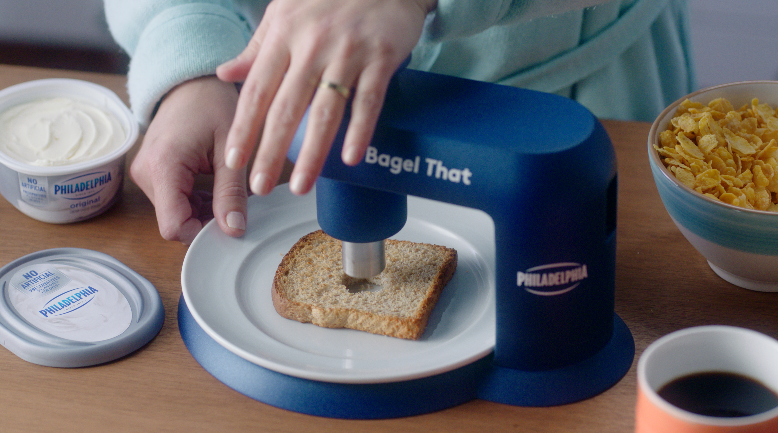 Philadelphia Cream Cheese Rolls Out a Device That Makes Any Food into a Bagel
