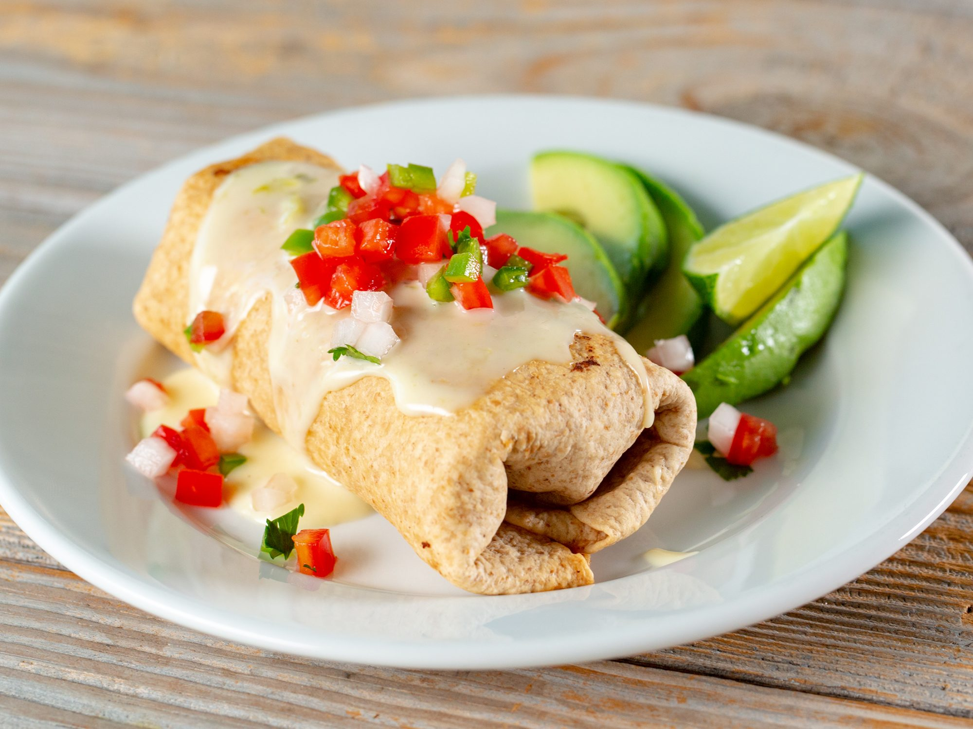 Air-Fried Chile Chicken Chimichanga image